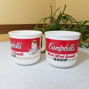 1992 Campbell's Soup Kids Mugs, set of 2